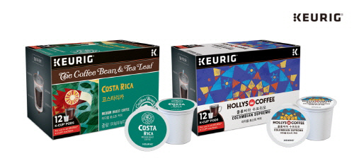 할리스 커피·커피빈 앤 티리프, 커피머신 큐리그와 손잡고 '캡슐커피' 선봬