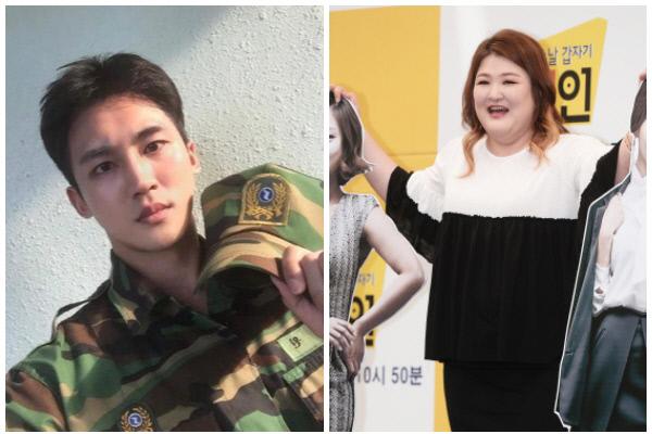 배우 온시우 SNS(왼쪽)과 개그우먼 이국주.