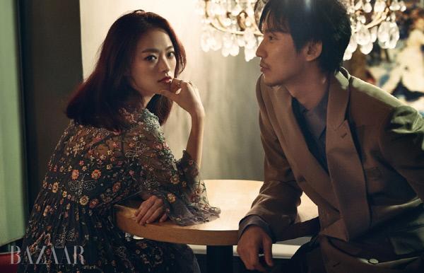 배우 천우희와 김남길, 사진 하퍼스 바자