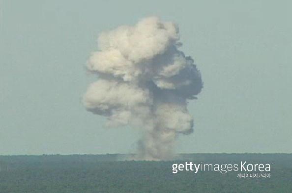 GBU-43 폭파 실험 모습. 게티이미지/이매진스