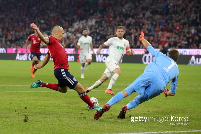 Bayern Munich Arjen Robben Björk has left-handed shot. Foto / Getty Images KOREA