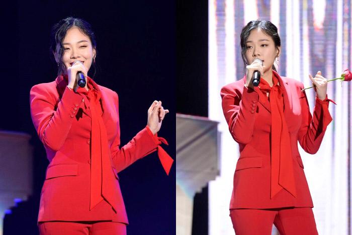 '더 팬'에 출연중인 비비. SBS 제공