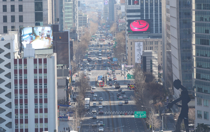 SEOUL, March 23 (Yonhap) The steps still need to be maintained for an emergency of # 39; high brown height that works from 6m a day. The picture shows the Seoul tour of Gwanghwamun on the 23rd. United Nations News