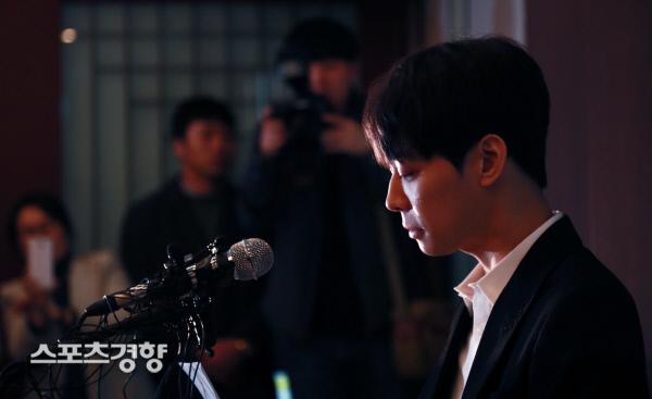 """[스경포토] 박유천, """"황하나씨 마약 수사와 관련 없다"""""""