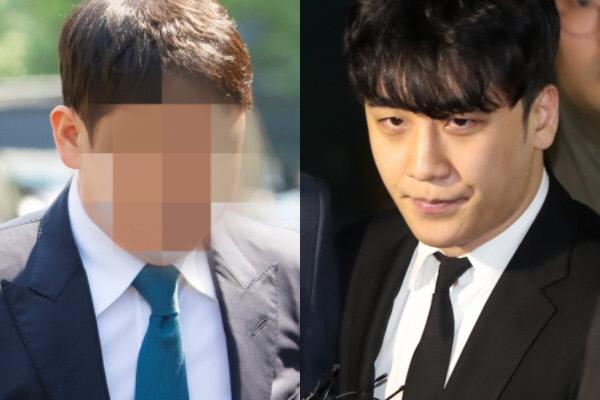유인석 유리홀딩스 전 대표(좌), 빅뱅 출신 승리(우). 연합뉴스