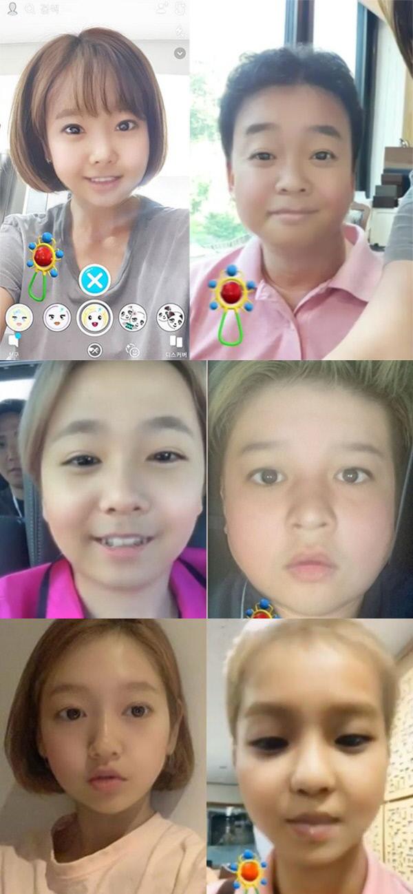 맨위 왼쪽부터 소유진, 백종원, 이홍기, 신동, 박신혜, 위너 송민호. 각 스타들 인스타그램