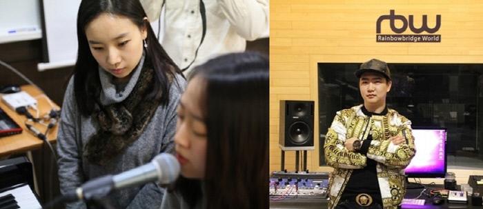 K팝 보컬과정 전민경 교수(사진 왼쪽)와 대중음악 프로듀싱과정 김기현 프로듀서(오른쪽).