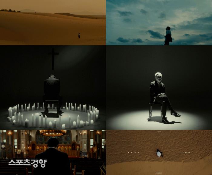 랩퍼 샵건 신곡 '싱글' 뮤직 비디오 티저 화면. 사진 스타쉽엔터테인먼트