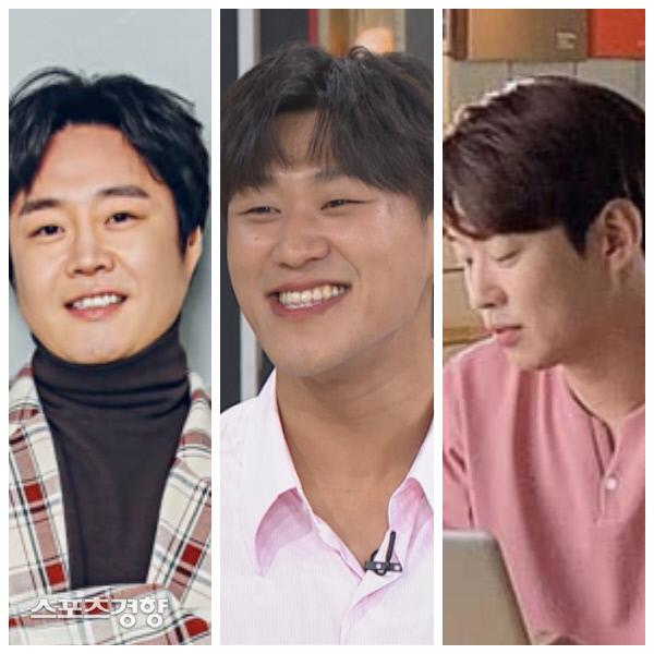 다이어트의 성공사례로 꼽히는 배우 류담(왼쪽부터), 강홍석, 안재홍. 사진 경향DB