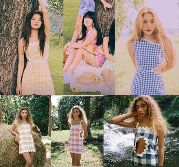 해외 패션 브랜드 Paris99가 20일 SNS에 그룹 레드벨벳의 콘셉트 의상 표절 의혹을 제기했다. Paris99 SNS 캡처