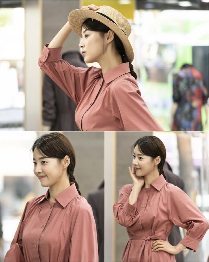 '황금정원' 한지혜, 밀짚모자+핑크 원피스까지