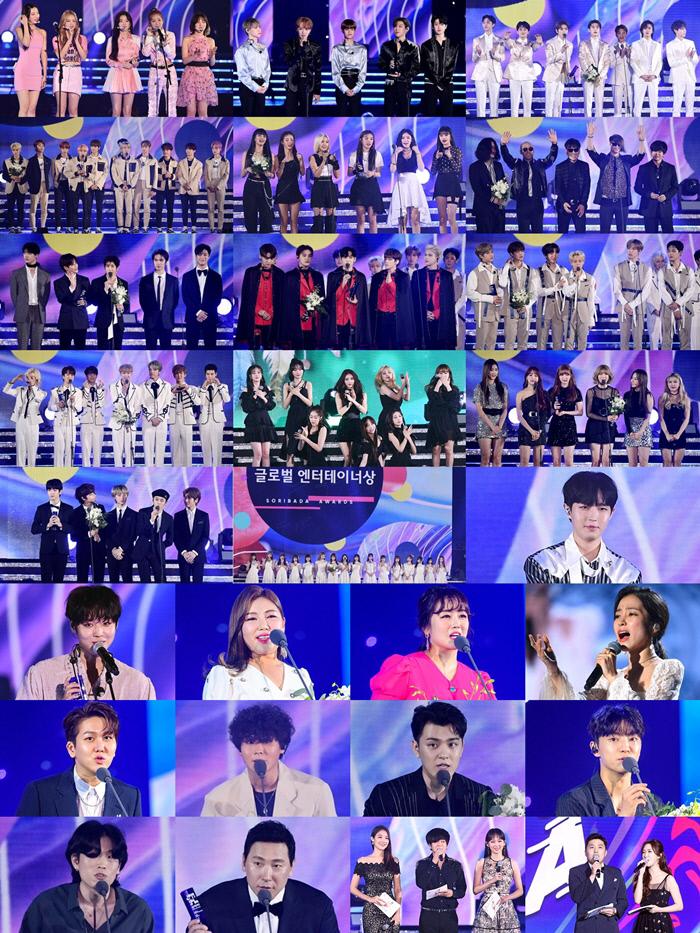 '2019 소바 어워즈', 한류 ★들과 함께한 전무후무 축제의 장…레드벨벳·방탄소년단 등 수상