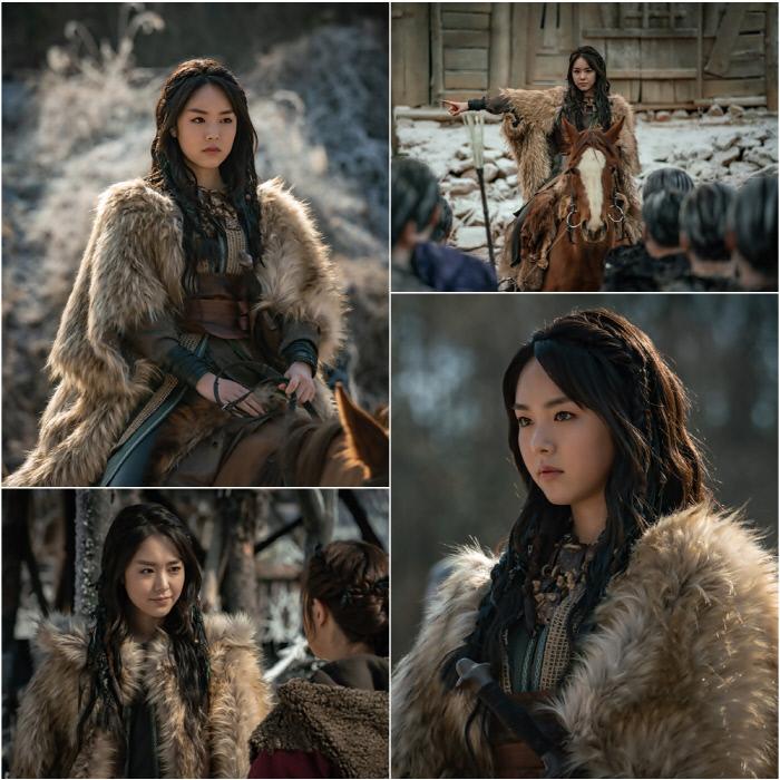 Part3에서 핵심적인 '키맨'으로 활약하게 될 모모족의 샤비라(최고 우두머리) 카리카(카라타 에리카 분) '아스달 연대기'. tvN 제공