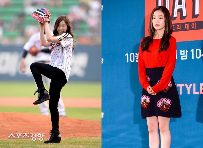 브랜드평판 지수 2위와 3위를 차지한 소녀시대 멤버 태연(왼쪽)과 레드벨벳 멤버 아이린. 이석우 기자