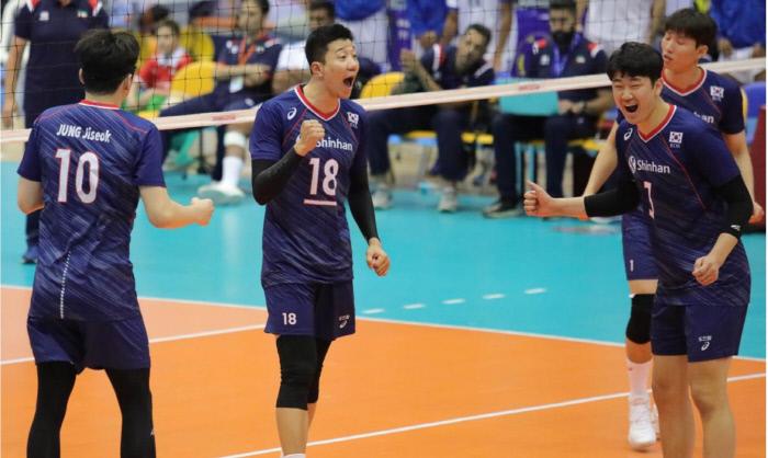 한국 남자배구 대표팀. AVC 홈페이지 갈무리