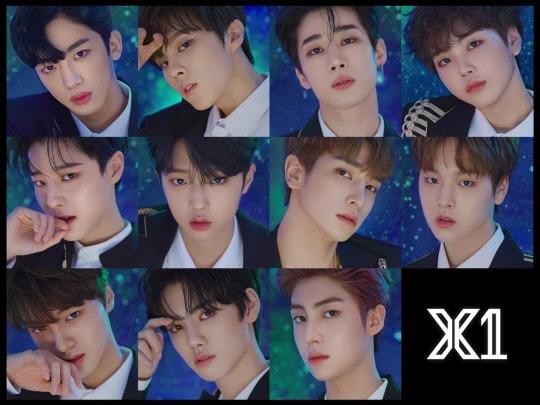 엠넷 오디션 프로그램 '프듀'시리즈를 통해 선발된 그룹 엑스원 멤버들.