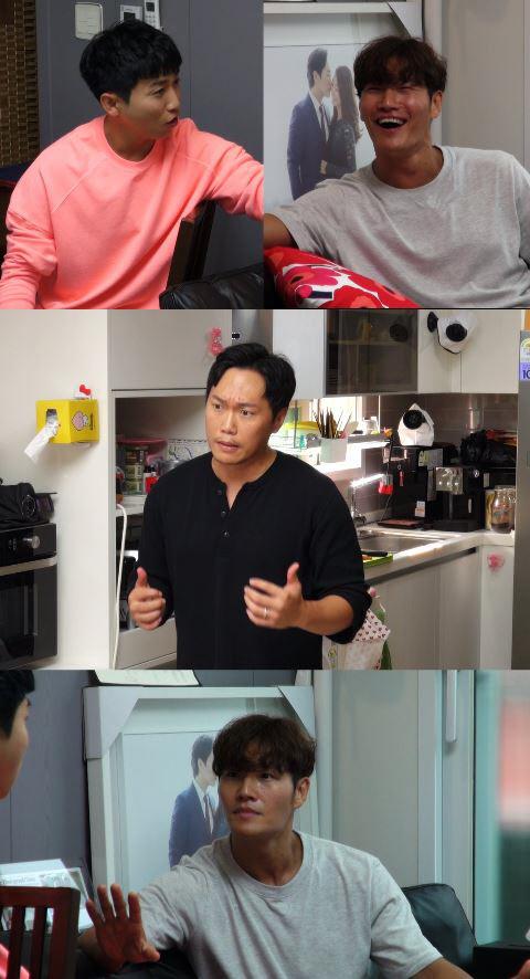 아내가 집을 비운 유부남 배우 송진우 집에서 열린 유부남 절친들의  大 환장 파티 '미우새'. SBS 제공