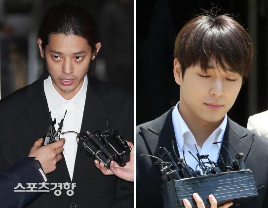 정준영(왼쪽)과 최종훈. 연합뉴스