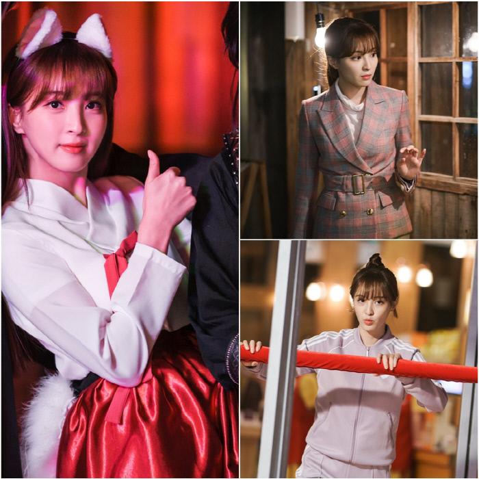 똑똑하고 유쾌한 스파이 조미란(정혜성 분)의 트레이닝복부터 정장까지 시선집중 출근복 '쌉니다 천리마마트'. tvN 제공