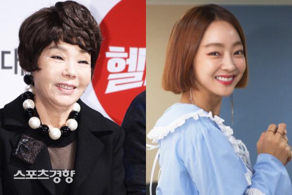 배우 김수미(좌), 배우 서효림. 이선명 기자