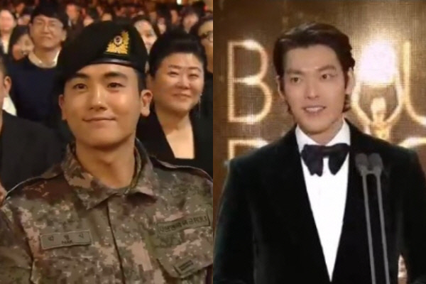 배우 박형식(좌), 김우빈(우). SBS 방송화면 갈무리