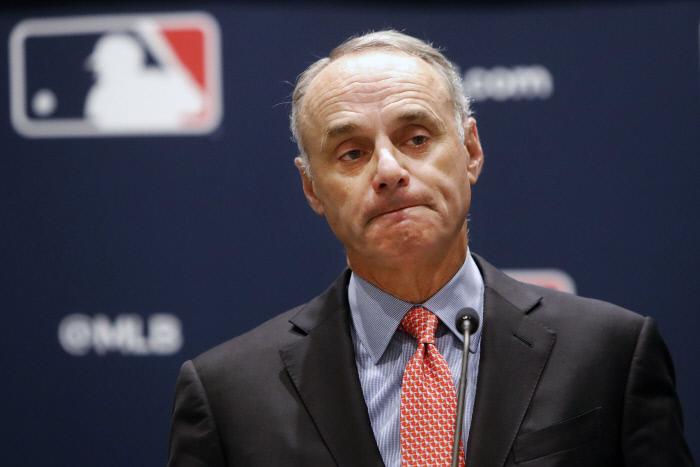 롭 맨프레드 미국 MLB 커미셔너. AP연합뉴스