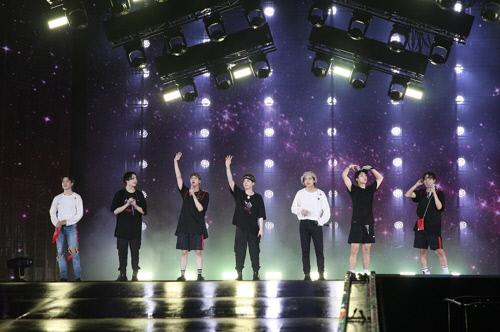 방탄소년단 일본 시즈오카 공연 모습. 빅히트엔터테인먼트 제공.