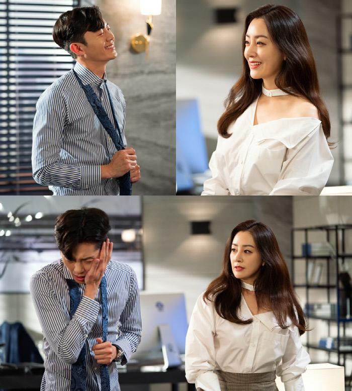 희주(오나라 분)×재휸(이지훈 분) 커플의 달콤 살벌한 따귀 씬 '99억의 여자'. KBS 2TV 제공