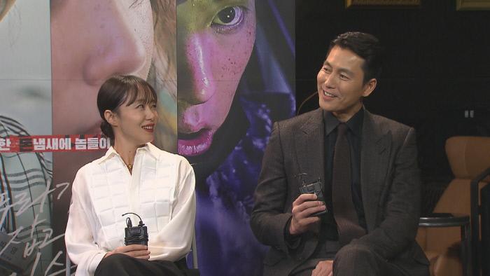 2월 개봉을 앞둔 영화 '지푸라기라도 잡고 싶은 짐승들'의 전도연-정우성과의 인터뷰 '본격연예 한밤'. SBS 제공