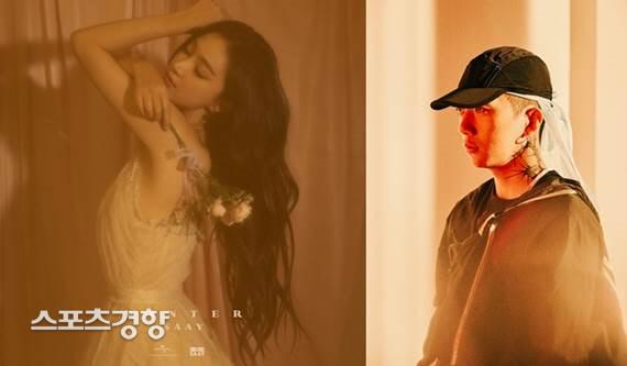 SAAY 새 싱글 '겨울탓' 커버(왼쪽), 래퍼 우원재. 유니버설뮤직, ㈜AOMG 제공.