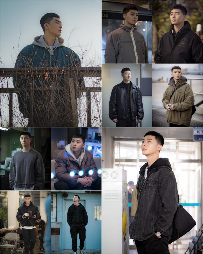 스트릿 룩의 정석으로 떠오르고 있는 박서준의 '새로이 패션' '이태원 클라쓰'. JTBC 제공